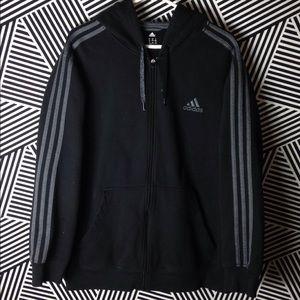 Classic Adidas Zip Up Hoodie Sweatshirt